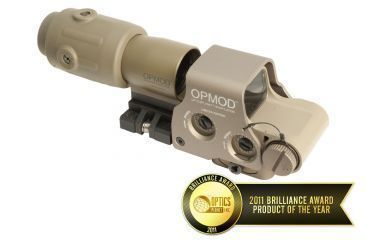 1-EOTech OPMOD MPO II EXPS3-0 Holosight with G23 3X Magnifier - 65 MOA ring and 1 MOA Dot Reticle, Tan