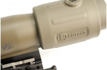 9-EOTech OPMOD MPO II EXPS3-0 Holosight with G23 3X Magnifier - 65 MOA ring and 1 MOA Dot Reticle, Tan