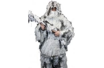 OPMOD Ghillie Suit Snow Camo, M/L - Chest 42-48in., Waist 32-38in. SV-OPMOD-GGHST-SNOW-001