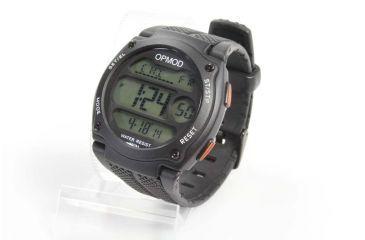 OPMOD T.E.W. 1.0 Tactical Everyday Watch, Black Case/Black Ring/Black Strap, 44mm CS007A