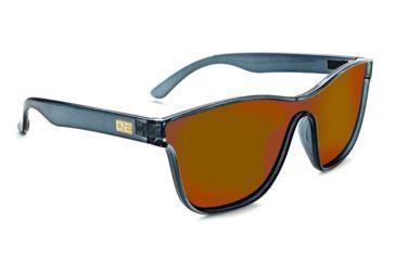 621d2256cd1e Optic Nerve One Boardroom Sunglasses, Shiny Crystal Grey Frame, Polarized  Smoke/Red Mirror