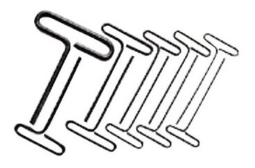 Allen 8-pc. 9in Wire T-handle Allen 023-56258, Unit PK