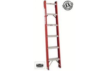 Louisville Ladder 8ft Fiberglass Classic Shelf L 443-FH1008, Unit EA