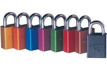 American Lock Aluminum Padlock Red3in Shack 5011102516, Unit EA