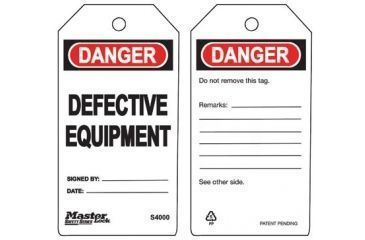Master Lock Do Not Operate Safety Tag 470-S4002, Unit PK