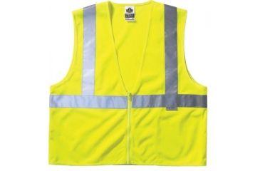 ORS Nasco Lime Standard Vest Mesh Zip 150-21125, Unit EA