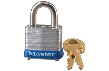 Master Lock 4 Pin Tumbler Padlock 2-1/2in 470-7LJKD, Unit PK