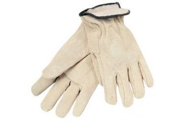 Memphis Glove White Fleece Lined Splitleathe 127-3150L, Unit PK