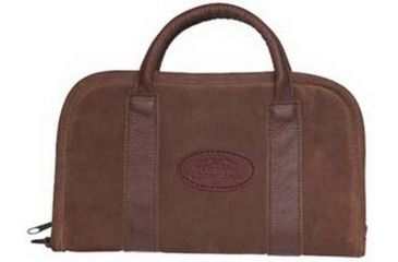 Outdoor Connection Superior Rectangular Pistol Case Suede Leather With Handle Brown 8 Inch