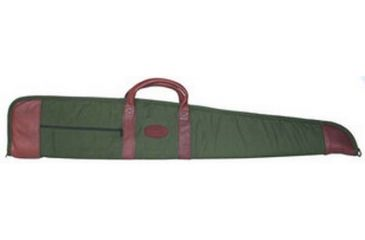 Outdoor Connection Supreme Unscoped Gun Case Canvas/Leather With Pocket and Handles 48 Inch Green/Tan