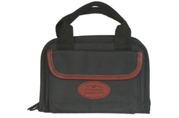 Outdoor Connection Deluxe Rectangular Pistol Case Black Polyester and Leather Trim With Handle 11 Inch CSPR1017-28260