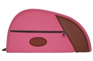 Outdoor Connection Deluxe Traditional Heart-Shaped Pistol Case Pink Polyester With Leather Trim 14 Inch CSP984-28299