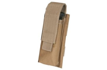 Outdoor Connection Single Mag Pouch, Pistol, MOLLE, Brown MLSPSTCB-62102