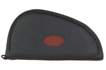 Outdoor Connection Superior Traditional Heart-Shaped Pistol Case Black Leather 14 Inch CSP1011-28254