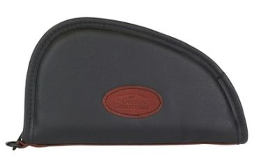 Outdoor Connection Superior Traditional Heart-Shaped Pistol Case Black Leather 11 Inch