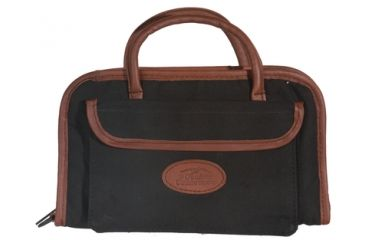 Outdoor Connection Supreme Rectangular Pistol Case Black Canvas and Leather Trim With Handle 14 Inch CSPR1022-28265
