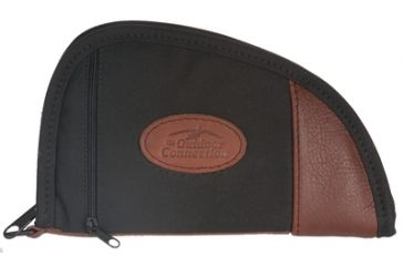 Outdoor Connection Supreme Traditional Heart-Shaped Pistol Case Black Canvas With Leather Trim 8 Inch CSP1002-28245