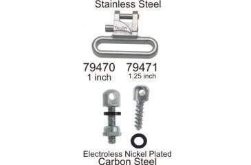 Outdoor Connection Talon Swivel Set, Stainless Steel/electroless nickel, 1 in. TAL-79470