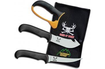 Outdoor Edge Cutlery Skin N' Bone Knife, Black, One size SN-1C