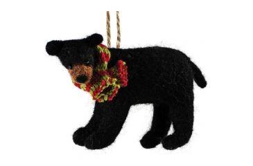Outside Inside Felted Bear Ornament 99259
