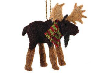 Outside Inside Felted Moose Ornament 99260