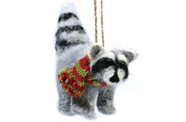 Outside Inside Felted Raccoon Ornament 99258
