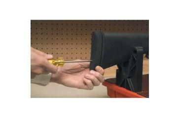 Pachmayr Pre-Fit Decelerator 1in Recoil Pad, Basket Black - Remington 700 ADL Wood,Curved
