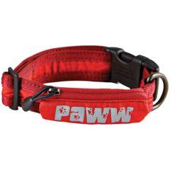 Paww Secret Agent Collar Md Red P653