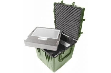 Pelican 0374 24in Cube Case W Lid Padded Dividers Od Green 0370 004 130