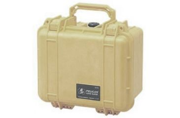 Pelican 1300 Small Watertight Case Desert Tan No Foam 1300 001 190