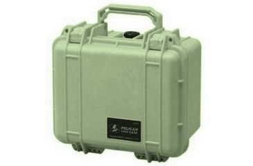 Pelican 1300 Small Watertight Case Od Green No Foam 1300 001 130