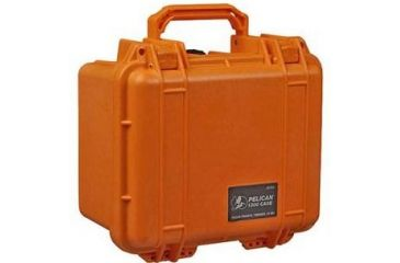 Pelican 1300 Small Watertight Case Orange No Foam 1300 001 150