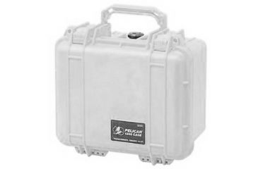 Pelican 1300 Small Watertight Case Silver No Foam 1300 001 180
