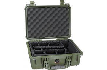 Pelican 1450 OD Green Case w/ Dividers