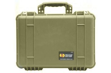 Pelican 1500 Medium Crushproof Dry Case 18 5x14x7in Desert Tan W Liner And Foam