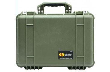 Pelican 1500nf Medium Crushproof Dry Case 18 5x14x7in Od Green No Foam