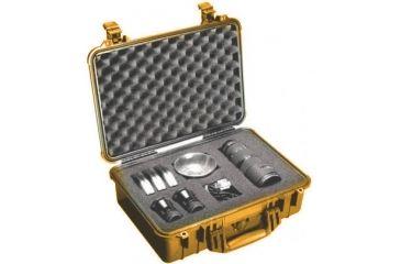 Pelican 1504 Medium Crushproof Dry Case 18 5x14x7in Orange W Liner And Dividers