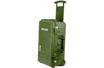 Pelican 1510 Carry On 22x13x9in Wheeled Protector Case Od Green No Foam