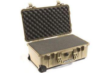 Pelican 1510 Carry On 22x13x9in Wheeled Protector Case, Desert Tan w/ Foam