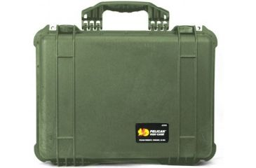 Pelican 1520 Protector 19x15x7in Watertight Carrying Case Od Green No Foam