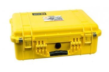 Pelican 1520 Protector 19x15x7in Watertight Carrying Case, Yellow w/Padded Dividers