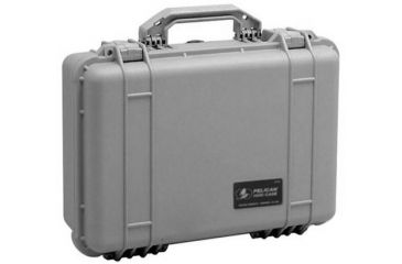 Pelican 1520 Protector 19x15x7in Watertight Carrying Case, Silver, No Foam