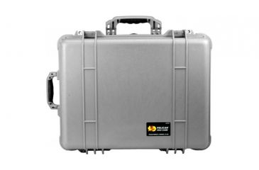Pelican 1564 Large Crushproof Wheeled Dry Box, 22x18x10.4in, Silver w/ Padded Dividers