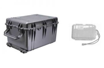 Pelican 1660 Watertight Protector Large Case 1660-021-110 with Pelican Micro Case Series Dry Box 1050-027-100 KIT