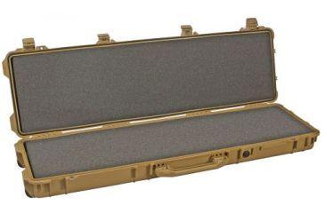 Pelican 1700 Watertight Protector Rifle Case, Wheels - 35in Long Interior, Tan, w/ Foam