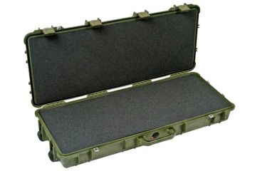Pelican 1700 Watertight Protector Rifle Case, Wheels - 35in Long Interior, OD Green, w/ Foam