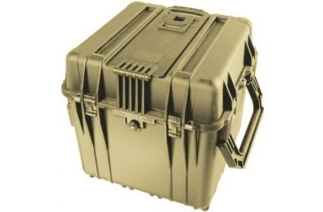 Pelican 340 Watertight Protector 18in Cube Case W Wheels No Liner No Foam Desert Tan 0340 101 190
