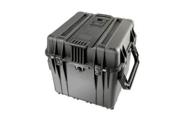 Pelican 340 Watertight Protector 18in Cube Case w/ Wheels, No Liner & With Foam - Black 0340-100-110