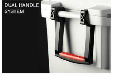 Pelican 35 Quart White Elite Cooler, Handle System 32-35Q-MC-WHT
