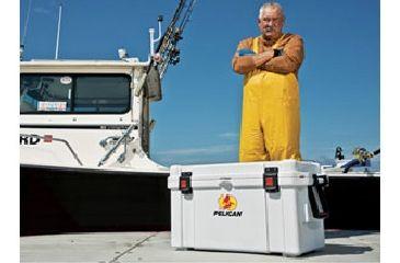 Pelican 65 Quart White Cooler, In Use 32-65Q-MC-WHT